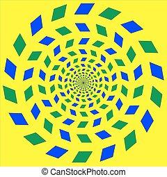 vektor, -, illúzió, látási