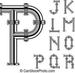 vektor, irodalomtudomány, króm, abc, pipa, rész, 2