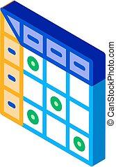 vektor, isometric, ikon, kiegészítések, ábra