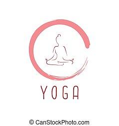 vektor, jel, tervezés, zen, jóga