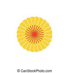 vektor, jelkép, turbina, energia, nap, természet, örvény