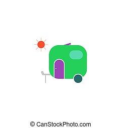 vektor, kúszónövény, ikon