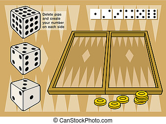 vektor, kozkázik, backgammon