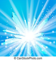 vektor, kristály, küllők, ábra