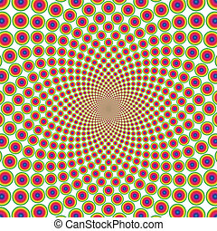 vektor, látási, háttér, karika, illúzió, (eps)