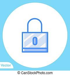 vektor, lakat, lakás, aláír, ikon, jelkép