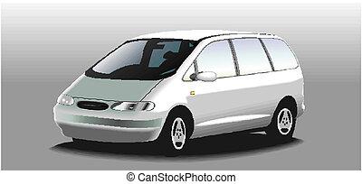 vektor, minivan