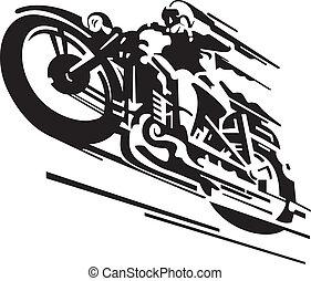 vektor, motorkerékpár, háttér