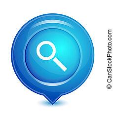 vektor, mutató, elhelyezés, ikon