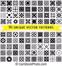 vektor, példa, kilencven, állhatatos