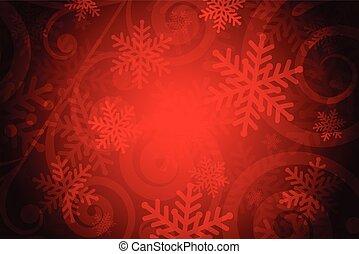 vektor, piros háttér, hópihe