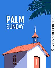 vektor, poszter, pálma, vasárnap, háttér, ünnep