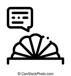 vektor, prompter, ábra, ikon, áttekintés