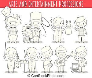 vektor, rajzóra, színezés, szórakozás, fogadalmak, karikatúra, állhatatos, style.