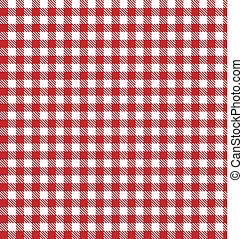 vektor, ruhaanyag, tarka, piknik, piros