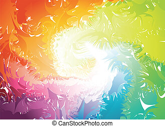 vektor, splats, színes, silhouette.