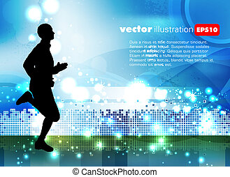 vektor, sport, ábra
