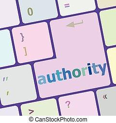 vektor, számítógép, gombol, ábra, autority, kulcs, billentyűzet