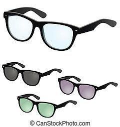 vektor, szemüveg