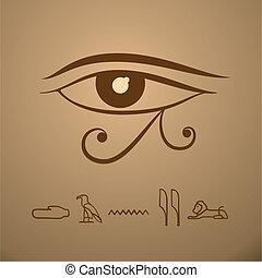 vektor, szem, horus