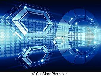 vektor, technológia, elvont, rendszer, ábra, háttér, jövő, gyorsaság