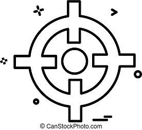 vektor, tervezés, összpontosít, ikon