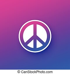 vektor, tervezés, aláír, béke