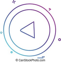 vektor, tervezés, nyílvesszö icon