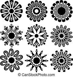 vektor, tervezés, virág, alapismeretek