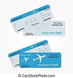 vektor, változat, ticket., ábra, levegő
