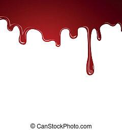vektor, vér, folyó