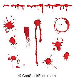 vektor, vér, -, loccsan