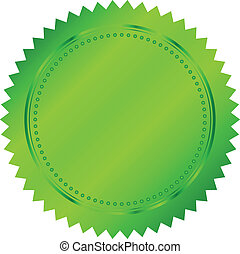 vektor, zöld, ábra, fóka