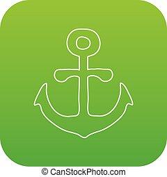 vektor, zöld, vasmacska, ikon