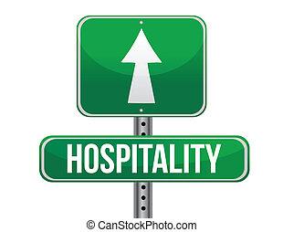 vendégszeretet, tervezés, út, ábra, aláír
