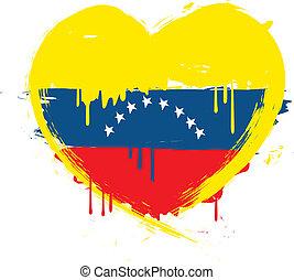 venezuela lobogó, grunge