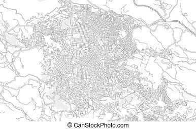 veracruz, térkép, mexikó, körvonalazott, fényes, vektor, xalapa