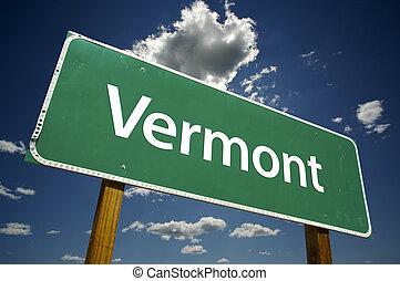 vermont, út cégtábla