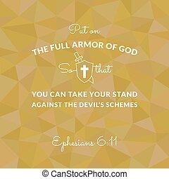 vers, felfegyverez, isten, biblia, ephesians, háttér, tele, dobás, poligon