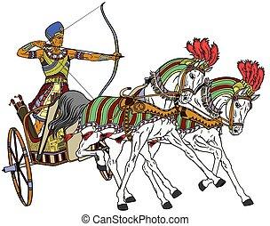 versenyszekér, egyiptomi