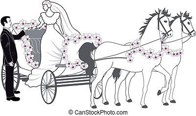 versenyszekér, newlyweds