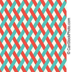 vesszőfonás, pattern., retro, seamless