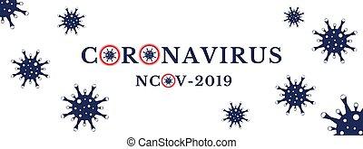 veszély, coronavirus, title., kockáztat, új, elvont, covid-19, ncov-2019, formál, disease., outbreak.