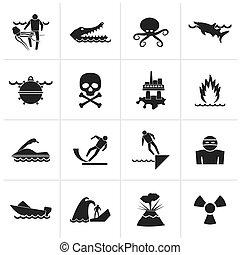 veszedelmek, figyelmeztetés, tenger, cégtábla