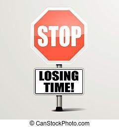 vesztes, abbahagy, idő