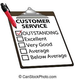 vevőszolgálat, forma, kiváló, jelent, értékelés