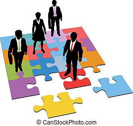 vezetőség, ügy emberek, rejtvény, oldás, erőforrás
