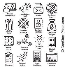 vezetőség, ügy icons, 12., egyenes, style., konzervál