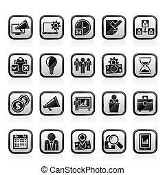 vezetőség, ügy icons