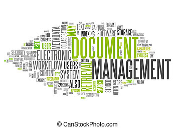 vezetőség, szó, dokumentum, felhő